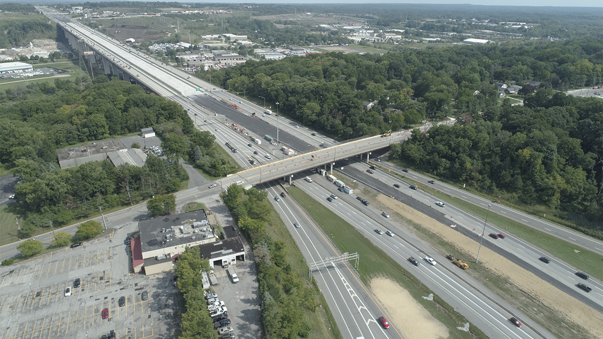 Image of New I-480 Valley View Bridge Open to Eastbound Traffic