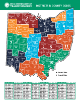 ODOT District Map With 3 Digit County Codes